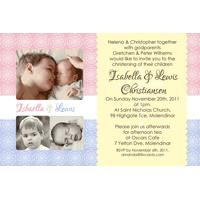 Sibling Photo Baptism Christening and Naming Day Invitations and Thank you Cards SC17-