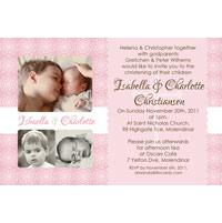 Sisters Photo Baptism Christening and Naming Invitations and Thank you Cards SC18-