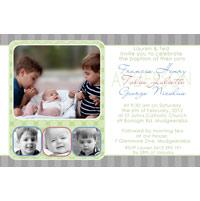 Sibling Photo Baptism Christening and Naming Day Invitations and Thank you Cards SC20-