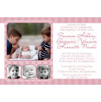 Sisters Photo Baptism Christening and Naming Invitations and Thank you Cards SC21-