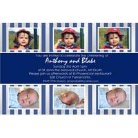 Brothers Photo Baptism Christening and Naming Invitations and Thank you Cards SC22-