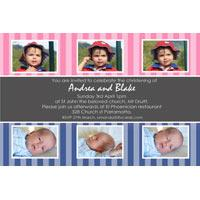 Sibling Photo Baptism Christening and Naming Day Invitations and Thank you Cards SC23-