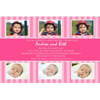 Sisters Photo Baptism Christening and Naming Invitations and Thank you Cards SC24-