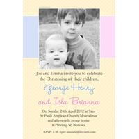 Sibling Photo Baptism Christening and Naming Day Invitations and Thank you Cards SC29-baptism invitations, brother baptism invitations, sister baptism invitations