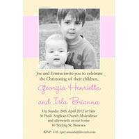 Sisters Photo Baptism Christening and Naming Invitations and Thank you Cards SC30-