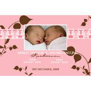 Birth Announcements and Baby Thank You Photo Cards for Twin Boy and Girl - TA03