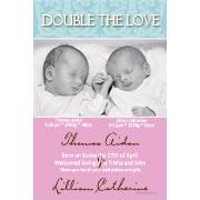 Twin Girl and Boy Birth Announcements and Baby Thank You Photo Cards TA13-Photo cards, personalised photo cards, photocards, personalised photocards, baby cards, personalised baby cards, birth announcements, personalised birth announcements, christening invitations, personalised christening invitations, personalised invitations, personalised announcements, invitations, announcements, photo invitations, photo announcements, personalised photo invitations, personalised photo announcements, announcement cards, announcement photo cards, photo christening invitations, photo announcements, birthday invitations, personalised birthday invitations, photo birthday invitations, photocard birth announcements, photo card birth announcements, personalised photo card birth announcement, personalised photo birthday invitation, personalised invites, birth celebrations, personalised celebrations, personalised birth celebrations, baptism invitations, personalised baptism invitations, personalised photo baptism invitations, pregnancy announcements, pregnancy announcement cards,  pregnancy cards, personalised pregnancy announcements, personalised pregnancy announcement cards, personalised pregnancy cards, baby shower invitations, personalised baby shower invitations, engagement invitations, personalised engagement invitations, photo engagement invitations, personalised photo engagement invitations, engagement photo cards, save the date cards, personalised save the date cards, photo save the date cards, wedding thank-you cards, personalised wedding thank-you cards, wedding thank-you photo cards,