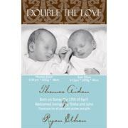 Twin Birth Announcements and Baby Thank You Photo Cards TA14-Photo cards, personalised photo cards, photocards, personalised photocards, baby cards, personalised baby cards, birth announcements, personalised birth announcements, christening invitations, personalised christening invitations, personalised invitations, personalised announcements, invitations, announcements, photo invitations, photo announcements, personalised photo invitations, personalised photo announcements, announcement cards, announcement photo cards, photo christening invitations, photo announcements, birthday invitations, personalised birthday invitations, photo birthday invitations, photocard birth announcements, photo card birth announcements, personalised photo card birth announcement, personalised photo birthday invitation, personalised invites, birth celebrations, personalised celebrations, personalised birth celebrations, baptism invitations, personalised baptism invitations, personalised photo baptism invitations, pregnancy announcements, pregnancy announcement cards,  pregnancy cards, personalised pregnancy announcements, personalised pregnancy announcement cards, personalised pregnancy cards, baby shower invitations, personalised baby shower invitations, engagement invitations, personalised engagement invitations, photo engagement invitations, personalised photo engagement invitations, engagement photo cards, save the date cards, personalised save the date cards, photo save the date cards, wedding thank-you cards, personalised wedding thank-you cards, wedding thank-you photo cards,