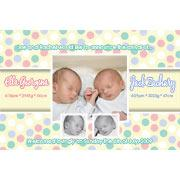 Twin Girl and Boy Birth Announcements and Baby Thank You Photo Cards TA16-Photo cards, personalised photo cards, photocards, personalised photocards, baby cards, personalised baby cards, birth announcements, personalised birth announcements, christening invitations, personalised christening invitations, personalised invitations, personalised announcements, invitations, announcements, photo invitations, photo announcements, personalised photo invitations, personalised photo announcements, announcement cards, announcement photo cards, photo christening invitations, photo announcements, birthday invitations, personalised birthday invitations, photo birthday invitations, photocard birth announcements, photo card birth announcements, personalised photo card birth announcement, personalised photo birthday invitation, personalised invites, birth celebrations, personalised celebrations, personalised birth celebrations, baptism invitations, personalised baptism invitations, personalised photo baptism invitations, pregnancy announcements, pregnancy announcement cards,  pregnancy cards, personalised pregnancy announcements, personalised pregnancy announcement cards, personalised pregnancy cards, baby shower invitations, personalised baby shower invitations, engagement invitations, personalised engagement invitations, photo engagement invitations, personalised photo engagement invitations, engagement photo cards, save the date cards, personalised save the date cards, photo save the date cards, wedding thank-you cards, personalised wedding thank-you cards, wedding thank-you photo cards,