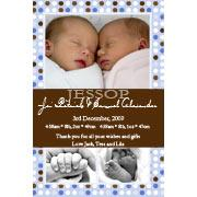Twin Boy Birth Announcements and Baby Thank You Photo Cards TA20-Photo cards, personalised photo cards, photocards, personalised photocards, baby cards, personalised baby cards, birth announcements, personalised birth announcements, christening invitations, personalised christening invitations, personalised invitations, personalised announcements, invitations, announcements, photo invitations, photo announcements, personalised photo invitations, personalised photo announcements, announcement cards, announcement photo cards, photo christening invitations, photo announcements, birthday invitations, personalised birthday invitations, photo birthday invitations, photocard birth announcements, photo card birth announcements, personalised photo card birth announcement, personalised photo birthday invitation, personalised invites, birth celebrations, personalised celebrations, personalised birth celebrations, baptism invitations, personalised baptism invitations, personalised photo baptism invitations, pregnancy announcements, pregnancy announcement cards,  pregnancy cards, personalised pregnancy announcements, personalised pregnancy announcement cards, personalised pregnancy cards, baby shower invitations, personalised baby shower invitations, engagement invitations, personalised engagement invitations, photo engagement invitations, personalised photo engagement invitations, engagement photo cards, save the date cards, personalised save the date cards, photo save the date cards, wedding thank-you cards, personalised wedding thank-you cards, wedding thank-you photo cards,