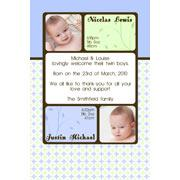 Twin Boy Birth Announcements and Baby Thank You Photo Cards TA23-Photo cards, personalised photo cards, photocards, personalised photocards, baby cards, personalised baby cards, birth announcements, personalised birth announcements, christening invitations, personalised christening invitations, personalised invitations, personalised announcements, invitations, announcements, photo invitations, photo announcements, personalised photo invitations, personalised photo announcements, announcement cards, announcement photo cards, photo christening invitations, photo announcements, birthday invitations, personalised birthday invitations, photo birthday invitations, photocard birth announcements, photo card birth announcements, personalised photo card birth announcement, personalised photo birthday invitation, personalised invites, birth celebrations, personalised celebrations, personalised birth celebrations, baptism invitations, personalised baptism invitations, personalised photo baptism invitations, pregnancy announcements, pregnancy announcement cards,  pregnancy cards, personalised pregnancy announcements, personalised pregnancy announcement cards, personalised pregnancy cards, baby shower invitations, personalised baby shower invitations, engagement invitations, personalised engagement invitations, photo engagement invitations, personalised photo engagement invitations, engagement photo cards, save the date cards, personalised save the date cards, photo save the date cards, wedding thank-you cards, personalised wedding thank-you cards, wedding thank-you photo cards,