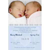 Twin Boy Birth Announcements and Baby Thank You Photo Cards TA26-Photo cards, personalised photo cards, photocards, personalised photocards, baby cards, personalised baby cards, birth announcements, personalised birth announcements, christening invitations, personalised christening invitations, personalised invitations, personalised announcements, invitations, announcements, photo invitations, photo announcements, personalised photo invitations, personalised photo announcements, announcement cards, announcement photo cards, photo christening invitations, photo announcements, birthday invitations, personalised birthday invitations, photo birthday invitations, photocard birth announcements, photo card birth announcements, personalised photo card birth announcement, personalised photo birthday invitation, personalised invites, birth celebrations, personalised celebrations, personalised birth celebrations, baptism invitations, personalised baptism invitations, personalised photo baptism invitations, pregnancy announcements, pregnancy announcement cards,  pregnancy cards, personalised pregnancy announcements, personalised pregnancy announcement cards, personalised pregnancy cards, baby shower invitations, personalised baby shower invitations, engagement invitations, personalised engagement invitations, photo engagement invitations, personalised photo engagement invitations, engagement photo cards, save the date cards, personalised save the date cards, photo save the date cards, wedding thank-you cards, personalised wedding thank-you cards, wedding thank-you photo cards,