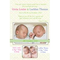 Twin Girl and Boy Birth Announcements and Baby Thank You Photo Cards TA28-Photo cards, personalised photo cards, photocards, personalised photocards, baby cards, personalised baby cards, birth announcements, personalised birth announcements, christening invitations, personalised christening invitations, personalised invitations, personalised announcements, invitations, announcements, photo invitations, photo announcements, personalised photo invitations, personalised photo announcements, announcement cards, announcement photo cards, photo christening invitations, photo announcements, birthday invitations, personalised birthday invitations, photo birthday invitations, photocard birth announcements, photo card birth announcements, personalised photo card birth announcement, personalised photo birthday invitation, personalised invites, birth celebrations, personalised celebrations, personalised birth celebrations, baptism invitations, personalised baptism invitations, personalised photo baptism invitations, pregnancy announcements, pregnancy announcement cards,  pregnancy cards, personalised pregnancy announcements, personalised pregnancy announcement cards, personalised pregnancy cards, baby shower invitations, personalised baby shower invitations, engagement invitations, personalised engagement invitations, photo engagement invitations, personalised photo engagement invitations, engagement photo cards, save the date cards, personalised save the date cards, photo save the date cards, wedding thank-you cards, personalised wedding thank-you cards, wedding thank-you photo cards,
