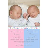 Twin Girl and Boy Birth Announcements and Baby Thank You Photo Cards TA34-Photo cards, personalised photo cards, photocards, personalised photocards, baby cards, personalised baby cards, birth announcements, personalised birth announcements, christening invitations, personalised christening invitations, personalised invitations, personalised announcements, invitations, announcements, photo invitations, photo announcements, personalised photo invitations, personalised photo announcements, announcement cards, announcement photo cards, photo christening invitations, photo announcements, birthday invitations, personalised birthday invitations, photo birthday invitations, photocard birth announcements, photo card birth announcements, personalised photo card birth announcement, personalised photo birthday invitation, personalised invites, birth celebrations, personalised celebrations, personalised birth celebrations, baptism invitations, personalised baptism invitations, personalised photo baptism invitations, pregnancy announcements, pregnancy announcement cards,  pregnancy cards, personalised pregnancy announcements, personalised pregnancy announcement cards, personalised pregnancy cards, baby shower invitations, personalised baby shower invitations, engagement invitations, personalised engagement invitations, photo engagement invitations, personalised photo engagement invitations, engagement photo cards, save the date cards, personalised save the date cards, photo save the date cards, wedding thank-you cards, personalised wedding thank-you cards, wedding thank-you photo cards,