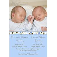 Twin Boy Birth Announcements and Baby Thank You Photo Cards TA35-Photo cards, personalised photo cards, photocards, personalised photocards, baby cards, personalised baby cards, birth announcements, personalised birth announcements, christening invitations, personalised christening invitations, personalised invitations, personalised announcements, invitations, announcements, photo invitations, photo announcements, personalised photo invitations, personalised photo announcements, announcement cards, announcement photo cards, photo christening invitations, photo announcements, birthday invitations, personalised birthday invitations, photo birthday invitations, photocard birth announcements, photo card birth announcements, personalised photo card birth announcement, personalised photo birthday invitation, personalised invites, birth celebrations, personalised celebrations, personalised birth celebrations, baptism invitations, personalised baptism invitations, personalised photo baptism invitations, pregnancy announcements, pregnancy announcement cards,  pregnancy cards, personalised pregnancy announcements, personalised pregnancy announcement cards, personalised pregnancy cards, baby shower invitations, personalised baby shower invitations, engagement invitations, personalised engagement invitations, photo engagement invitations, personalised photo engagement invitations, engagement photo cards, save the date cards, personalised save the date cards, photo save the date cards, wedding thank-you cards, personalised wedding thank-you cards, wedding thank-you photo cards,