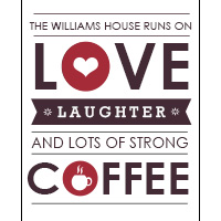 This House Runs On Wall Art WA18-This house runs on coffee, family rules, wall art