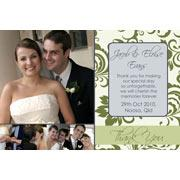 Wedding Thank You Photo Cards WT09-Photo Cards, Photo invitations, Birth Announcements, Birth Announcement Cards, Christening Photo Invitations, Baptism Photo Invitations, Naming Day Photo Invitaitons, Birthday  Photo Invitations, Pregnancy Announcement Cards,Thankyou Photo Cards