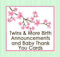 Birth Announcements for Multiples